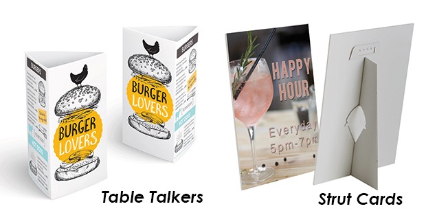 Strut Cards & Table Talkers